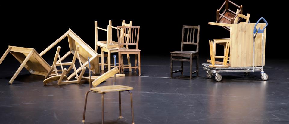 Bild från inspelningen av Skånes Dansteaters dansfilm Amass.