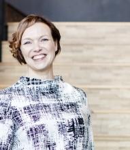 Skånes Dansteaters konstnärliga ledare och VD, från och med juli 2019, Mira Helenius Martinsson. Foto: David Thibel